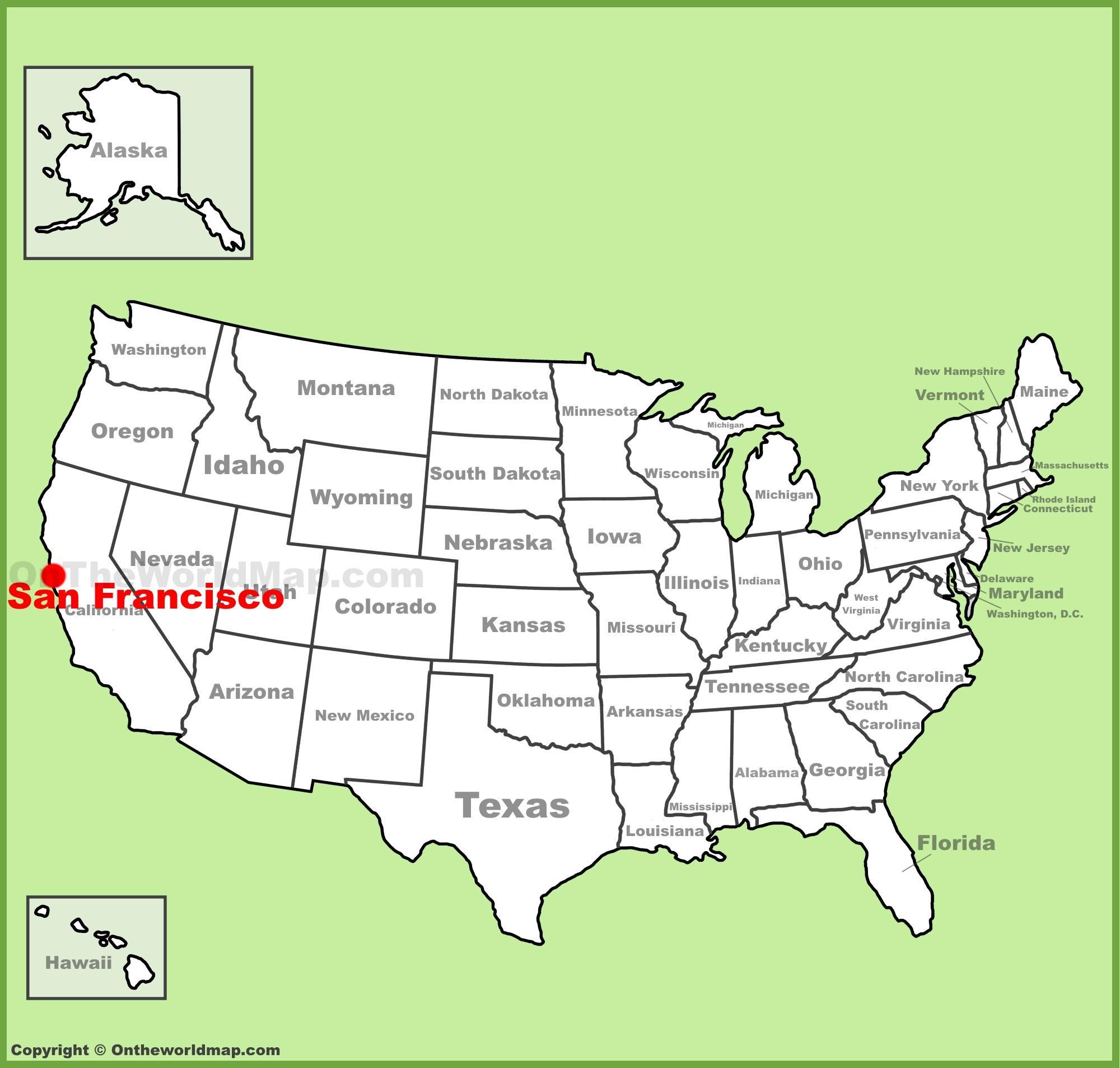 Mapa De San Francisco.San Francisco Location Map Map Of San Francisco Location