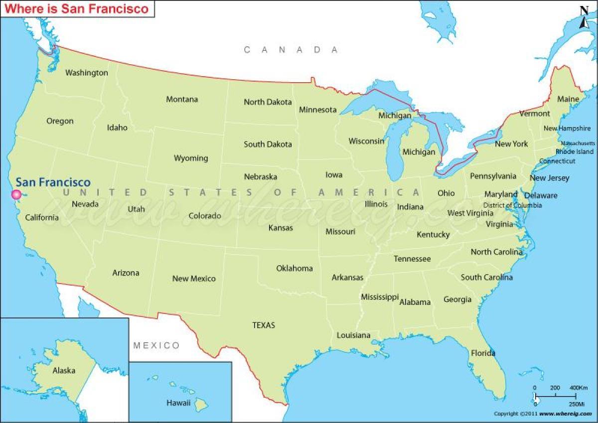 San Francisco usa map - Map of San Francisco california usa ...
