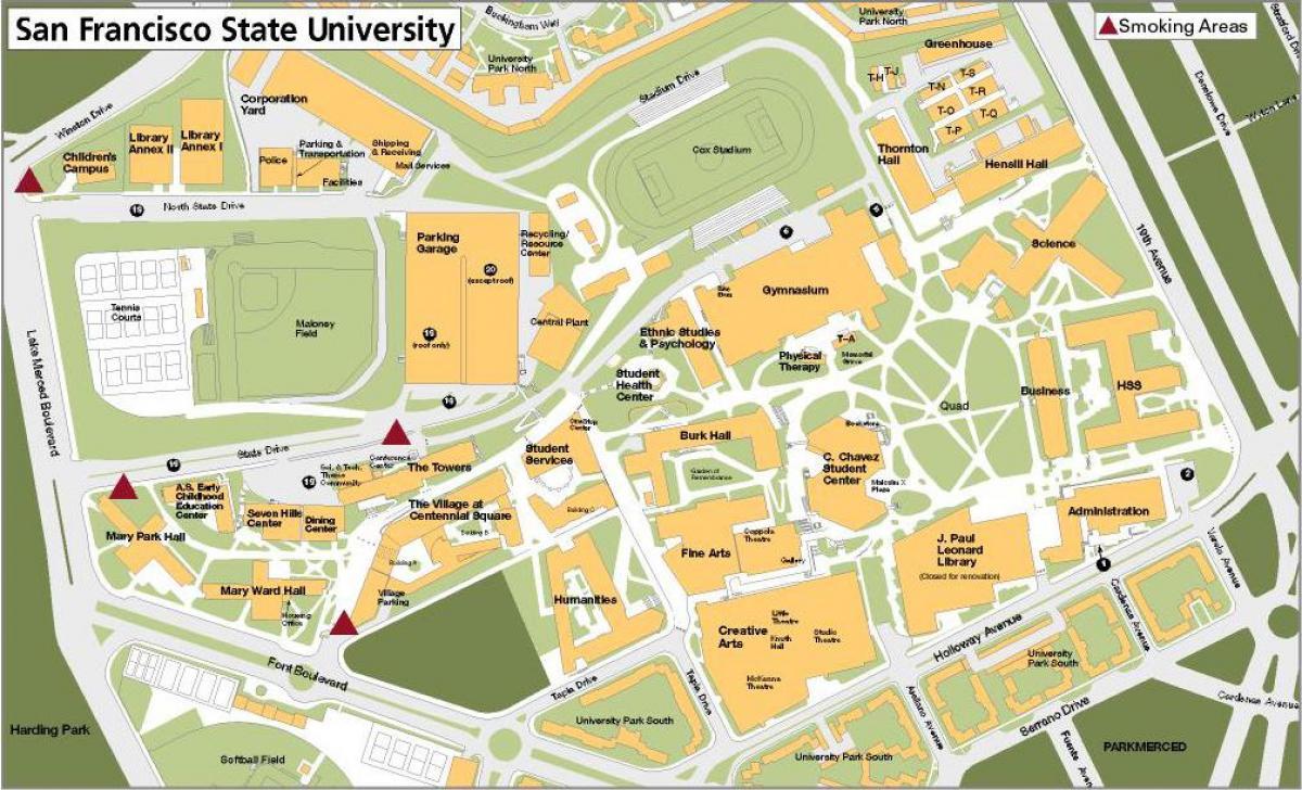 san francisco state university campus map Sf State Campus Map San Francisco State University Campus Map san francisco state university campus map