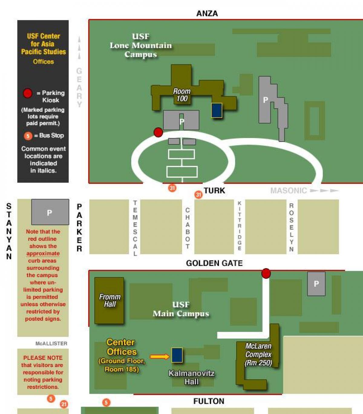 Usfca Campus Map University Of San Francisco Map